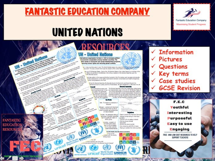 United Nations Teaching Handout Revision Map