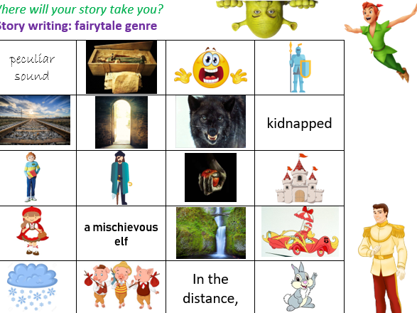 Creative Story Writing Grid