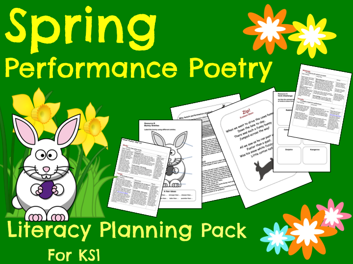 'Spring Performance Poetry' Pack - Y1/Y2