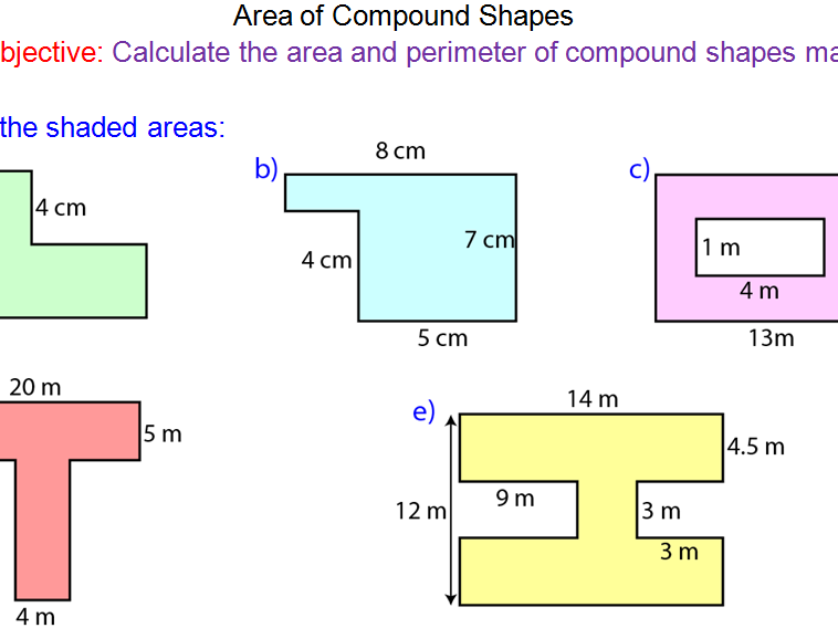 Area of Compound Shapes GCSE Mathematics Full Lesson