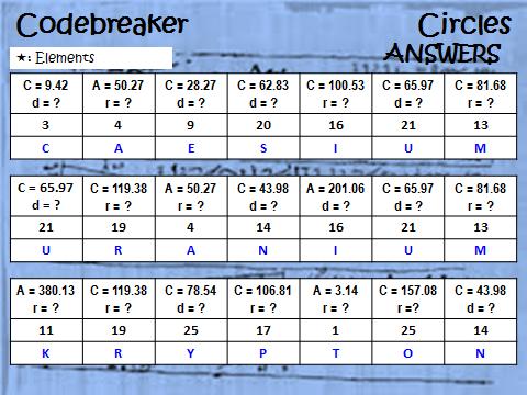 Codebreaker: Circles_Finding Radius and Diameter