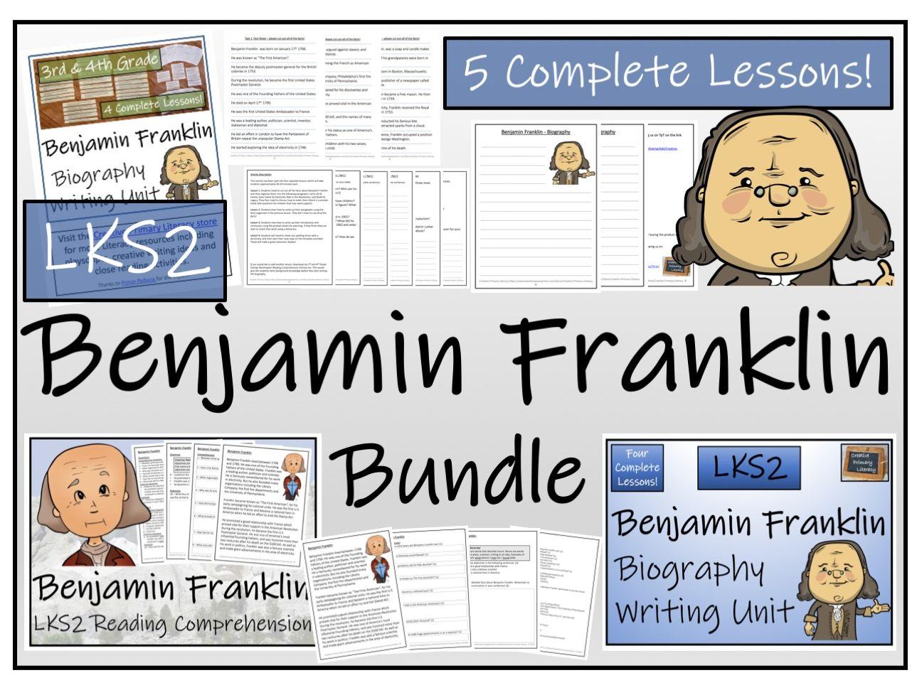 LKS2 History - Benjamin Franklin Reading Comprehension & Biography Bundle