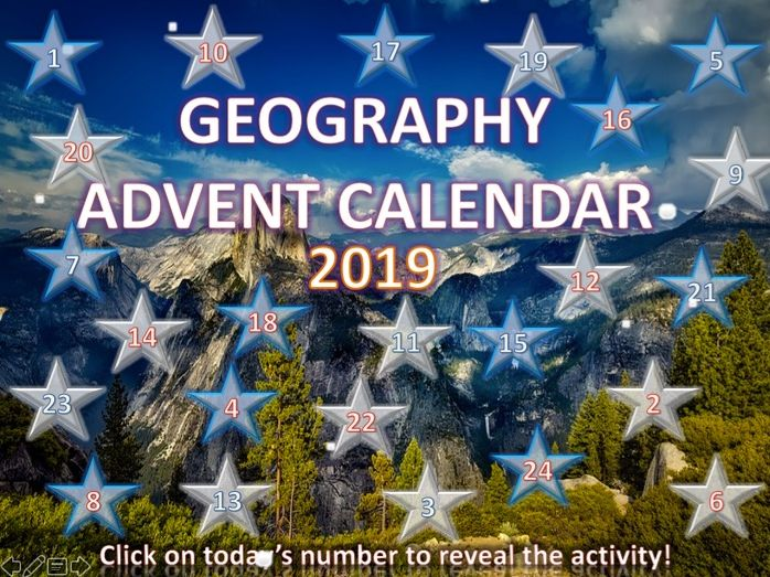 Geography Christmas Quiz Advent Calendar 2019