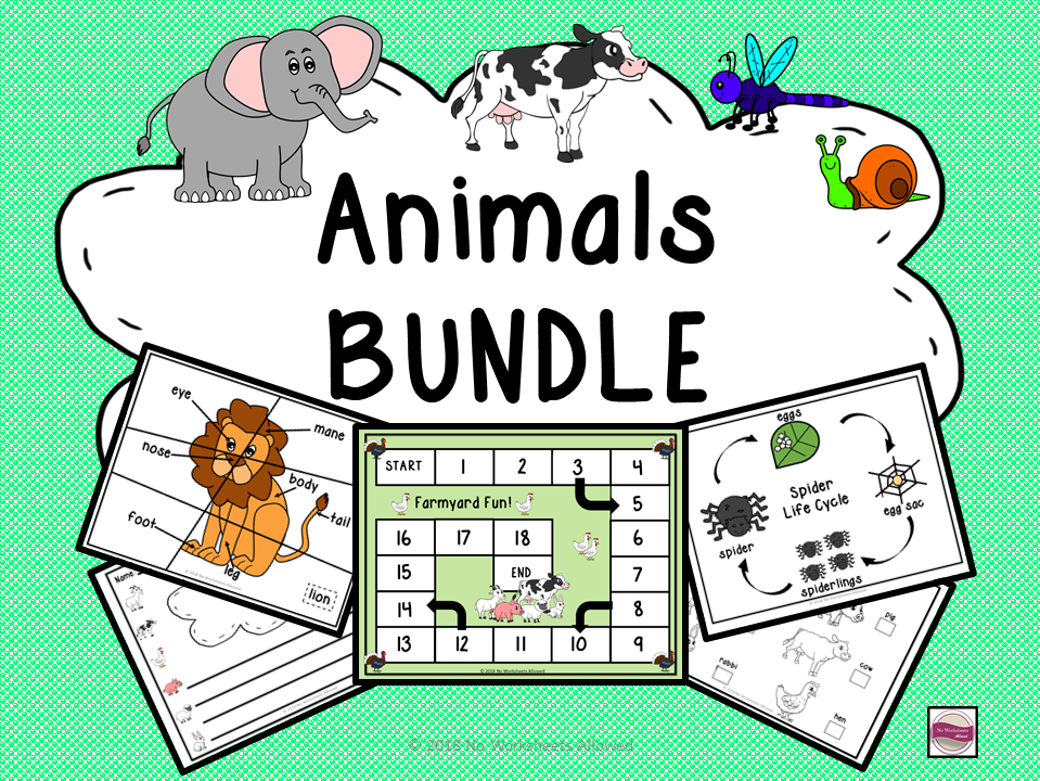 Animals Bundle: Farm Animals, Zoo Animals and Minibeasts