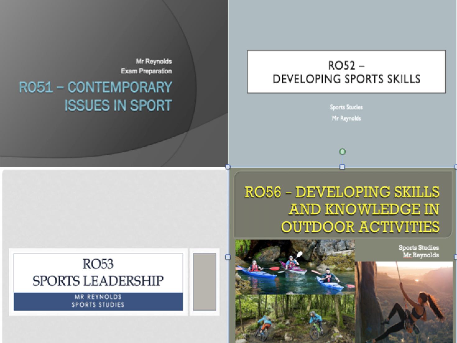 OCR Cambridge Nationals - Sports Studies