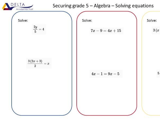 Securing a Grade 5 Question Collections