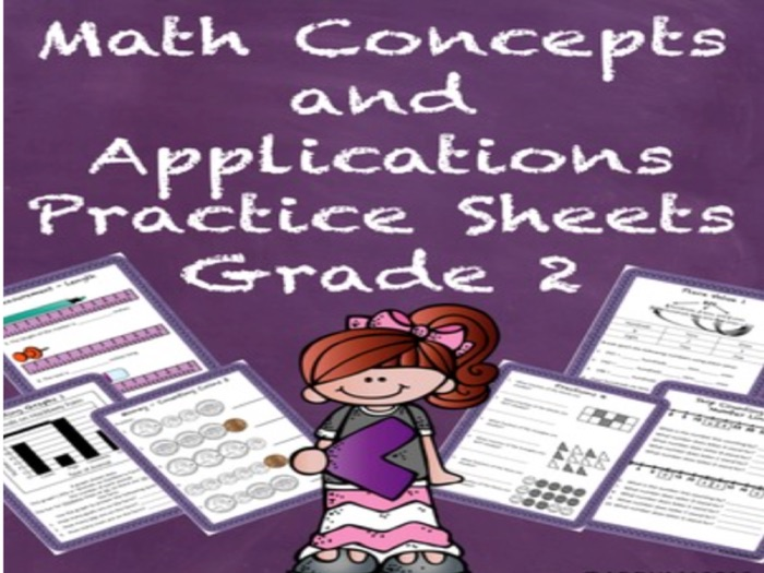 Special Education Math Concepts and Applications Grade 2 Practice Sheets