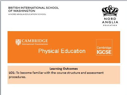 Introduction to IGCSE PE PowerPoint