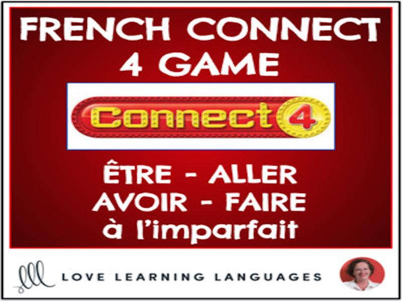 French Connect 4 Game - ÊTRE - ALLER - AVOIR - FAIRE - Imperfect Tense