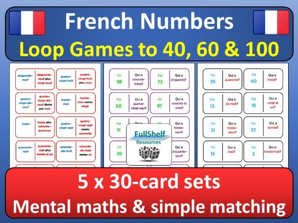 French Numbers Loop Games