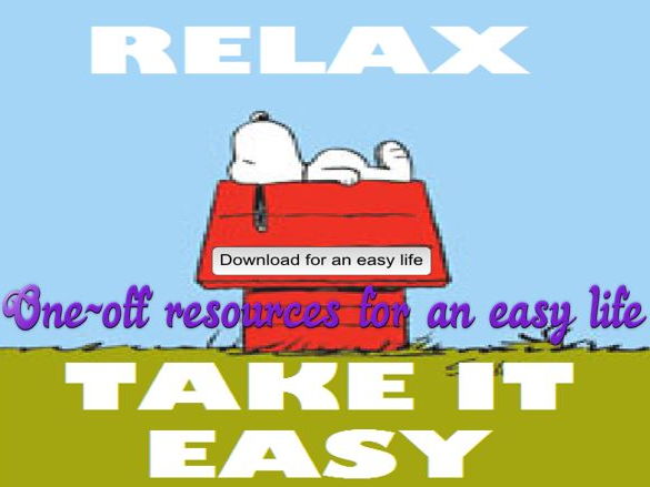 Relax - Take it Easy