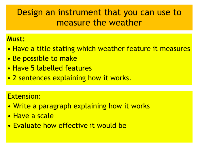 Year 7 Geography, Weather. Lesson 2: Measuring the weather