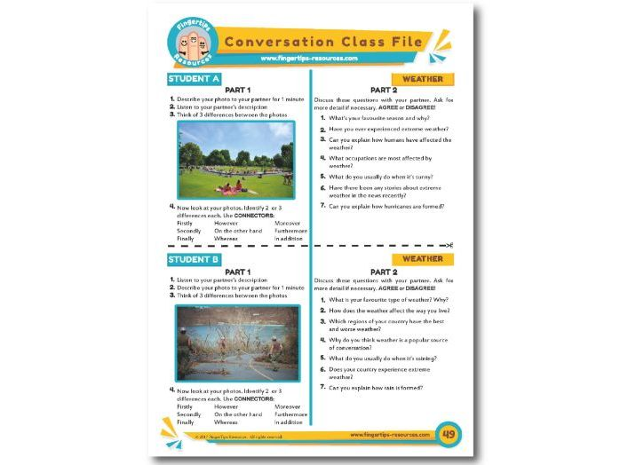 Weather & Climate - ESL Conversation Activity