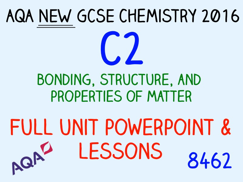 AQA NEW C2 GCSE 2016 - FULL UNIT RESOURCES
