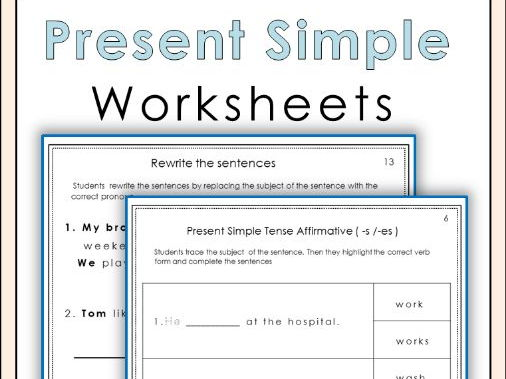 Present Simple Worksheets Free Sample