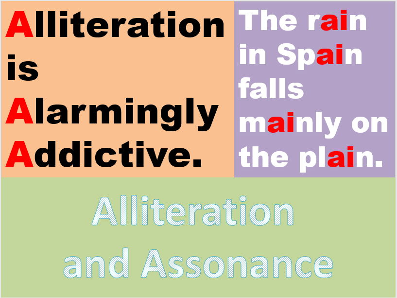 An introduction to alliteration and assonance