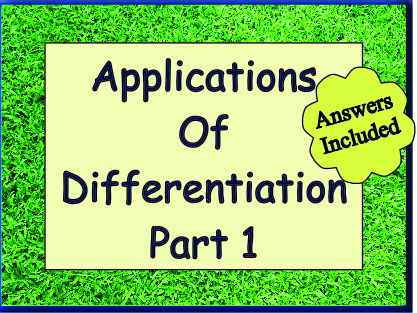 Applications Of Differentiation Part 1