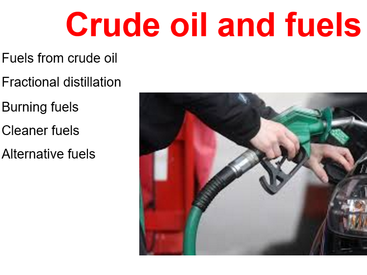 Crude Oil and Fuels GCSE Chemistry