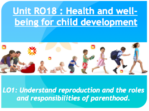 Cambridge National Child Development RO18 Full Unit lesson power points
