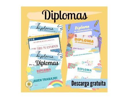 Certificados/diplomas por buen trabajo. Spanish great work/award certificates for students