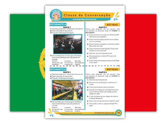 Rotinas - Portuguese Speaking Activity