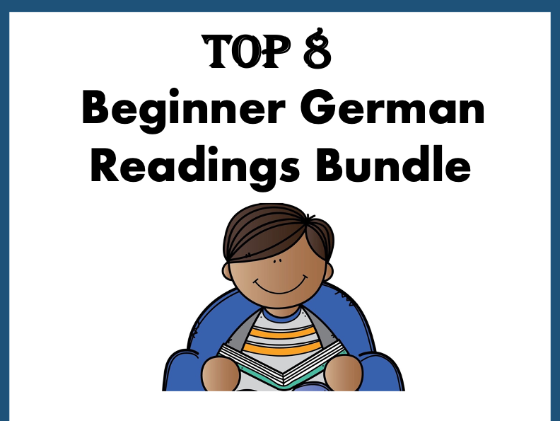 German  Reading Bundle: Top 8 Readings at 40% OFF! Lesungen A1/A2
