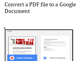 Google Drive - Convert a pdf to a Google document to edit it