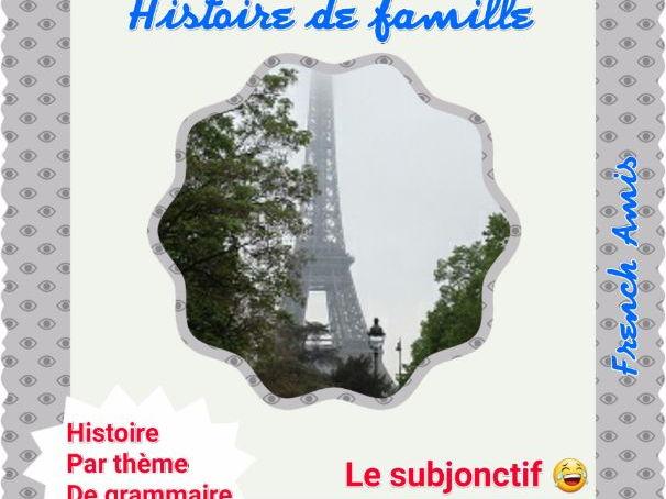 French Subjonctif présent - TPR french story -  Histoire de famille