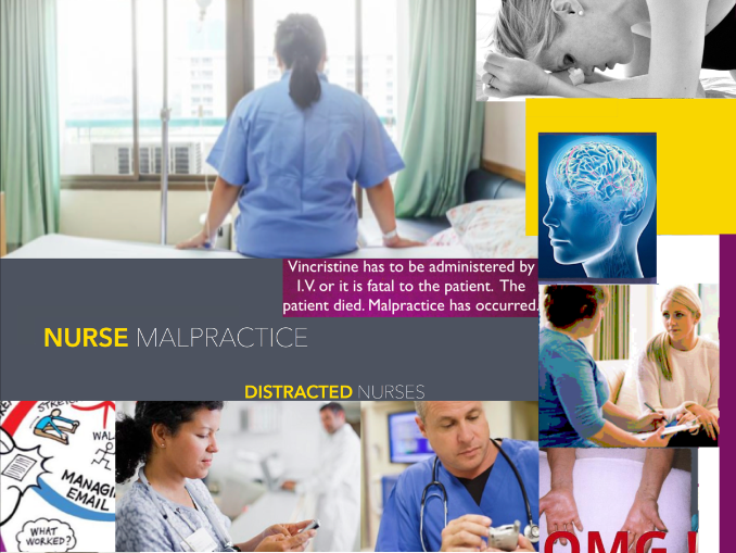 Nurse Malpractice - Nurse Misconduct - Medicine & Law - 72 SLIDES TOTALLY