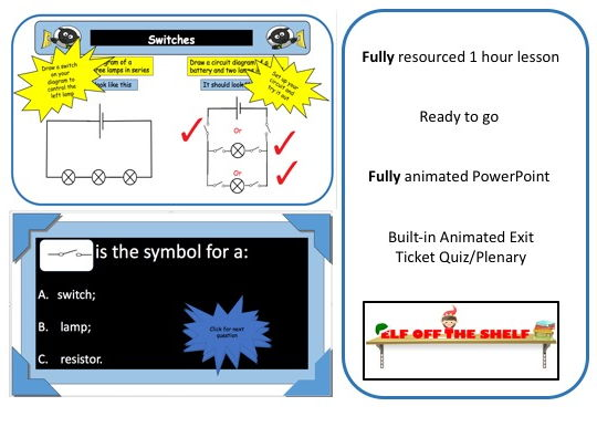 Electricity -Switches in Series and Parallel Circuits KS3 - Animated PowerPoint and Resources