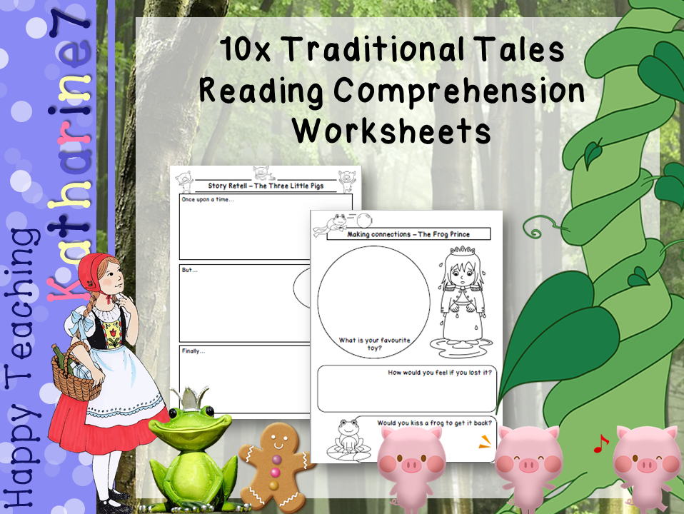 Traditional tale reading comprehension worksheets