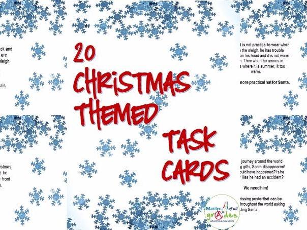 Christmas Themed Task Cards.