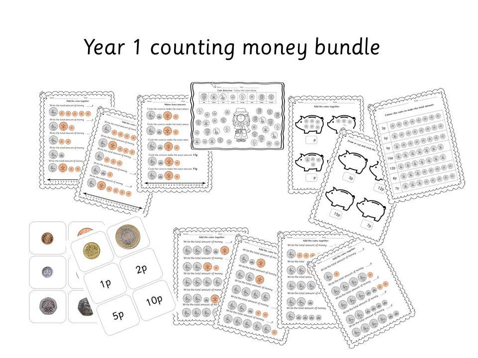 Year 1 / Year 2 Maths: adding money coins bundle