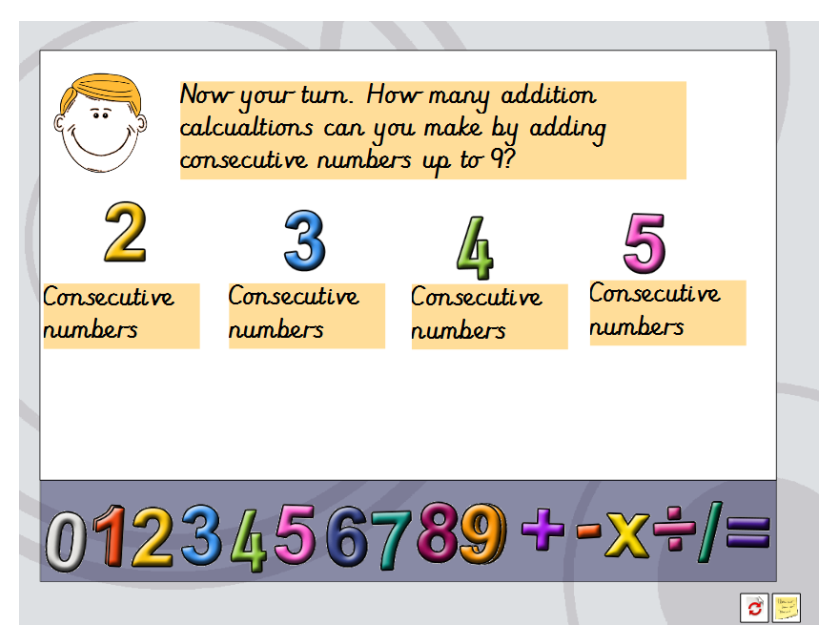 Investigation adding 1, 2 and 3 digit numbers Consecutive Numbers Investigation