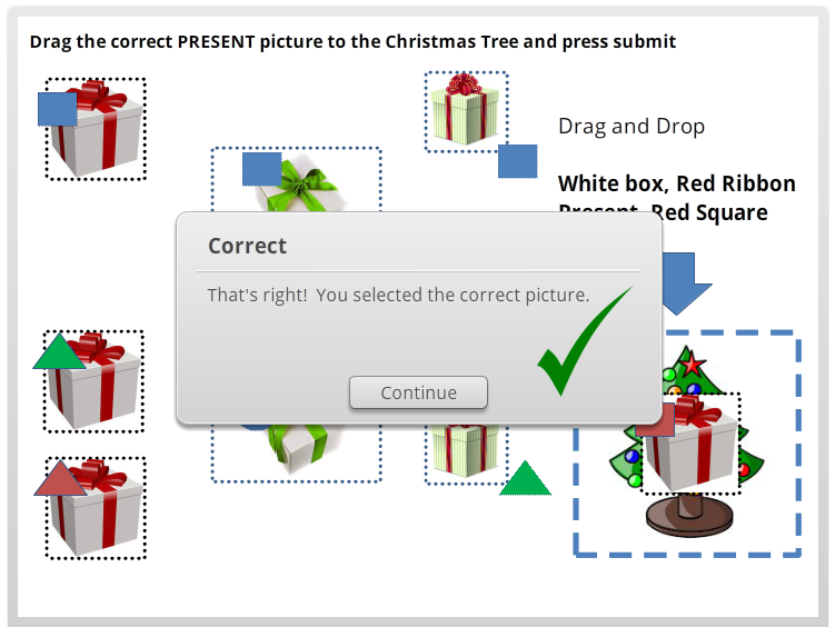 Christmas Interactive Quiz ! Drag and Drop activity package for early years