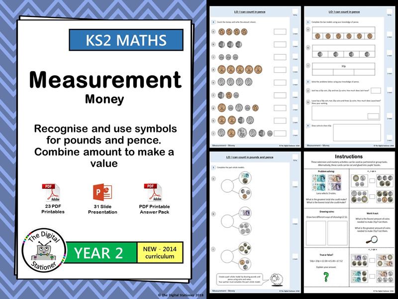 Year 2 – Money - Recognise & use symbols for £s and ps. White Rose Block 3, Weeks 9,10 (INC MASTERY)