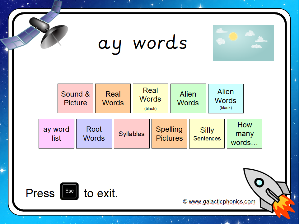 The 'ay' Phonics PowerPoint