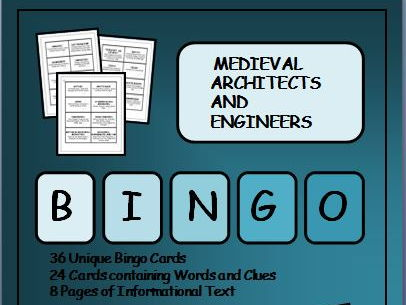 Reading Passages and Bingo - Medieval Castles, Architects and Engineers