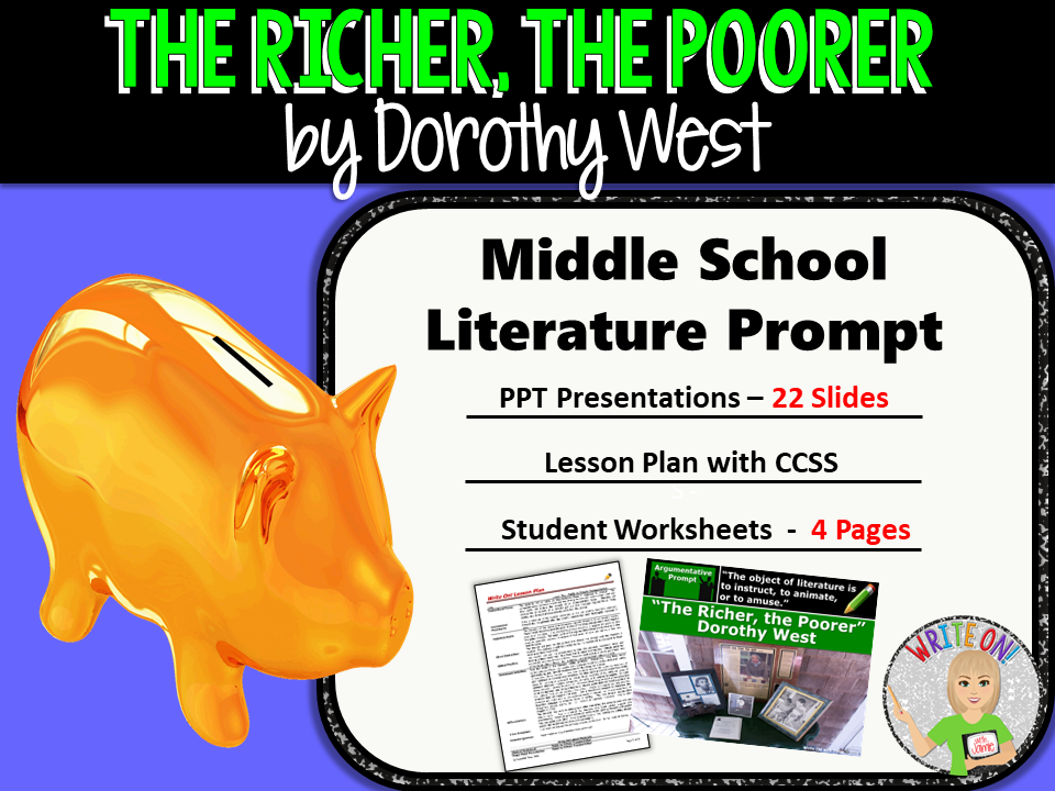 The Richer, The Poorer by Dorothy West - Text Dependent Analysis Argument Writing