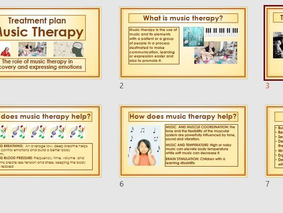 Music therapy;  who will benefit from a complimentary treatment?