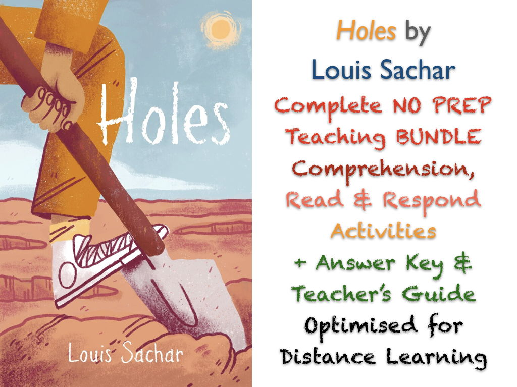 Holes (Louis Sachar) Complete NO PREP TEACHING BUNDLE ACTIVITIES + ANSWERS