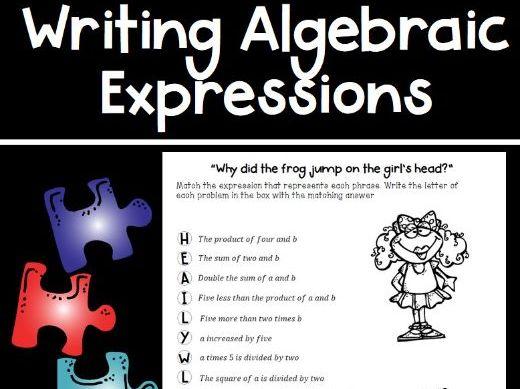 Writing Algebraic Expressions Puzzle