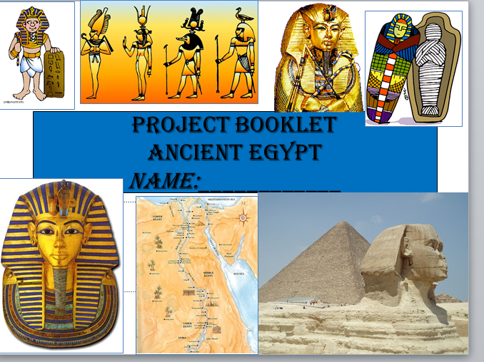 Ancient Egypt-Project Booklet- (End of term/end of topic fun activity booklet) Y7 or key stage 2
