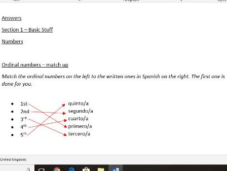 Section 1 (Basic Stuff) - Numbers (Lesson PPT as well as a worksheet with answers - WHOLE LESSON).