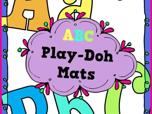 ABC Play-Doh Mats
