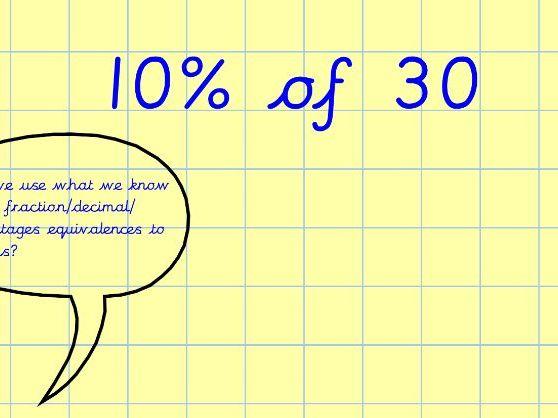 Notebook slides - Percentages of amounts