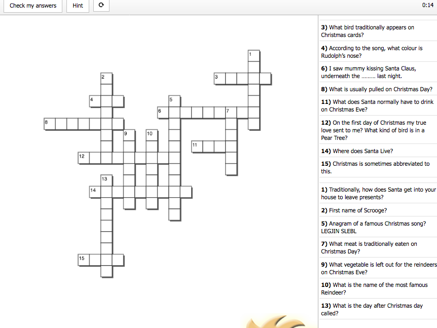 Interactive Christmas Word Search & Crossword