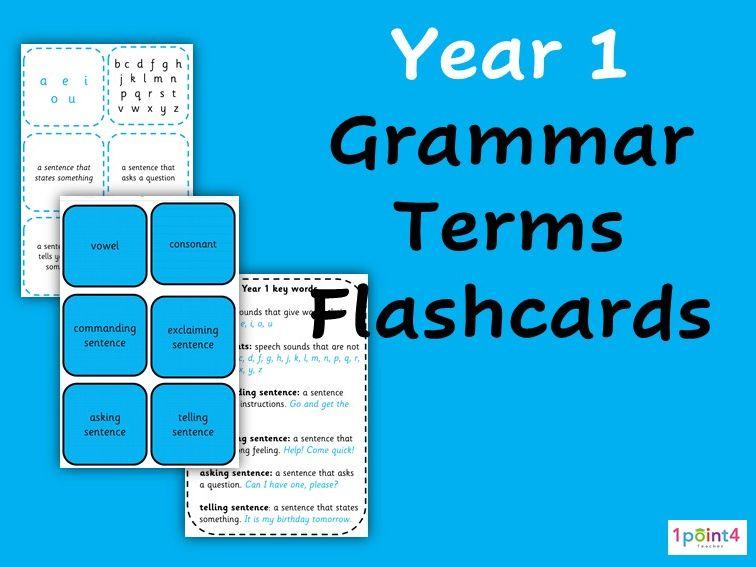 Year 1 Grammar Flashcards