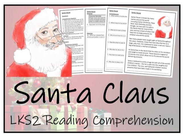 LKS2 Literacy - Santa Claus Reading Comprehension Activity