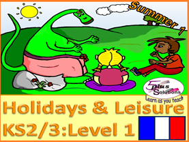 SIX LESSON PRIMARY KS2/3 FRENCH UNIT: Sport, leisure, hobbies, past-times, week  days, diary etc.
